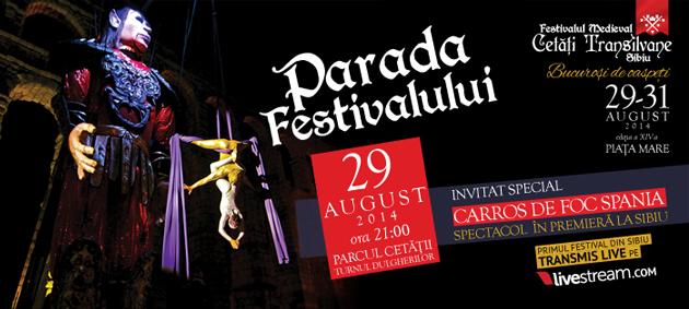 Carros de Foc (Spania) cu două spectacole în premieră la Sibiu